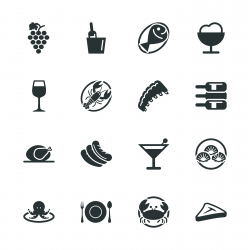 Dinner Silhouette Icons