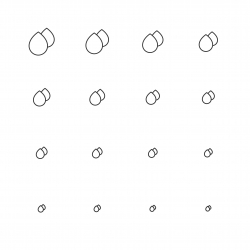 Water Drop Icon - Multi Scale Line Series