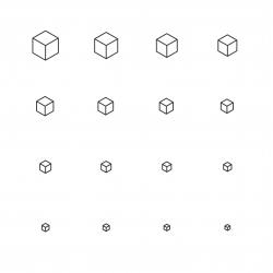 Cubic Icon - Multi Scale Line Series