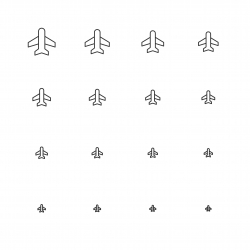 Airplane Icon - Multi Scale Line Series