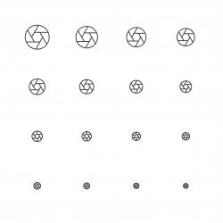 Aperture Icon - Multi Scale Line Series
