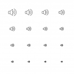 Speaker Icon - Multi Scale Line Series