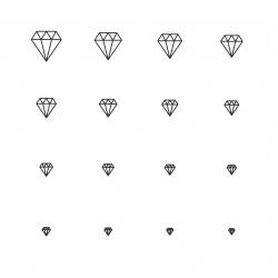 Diamond Icons - Multi Scale Line Series