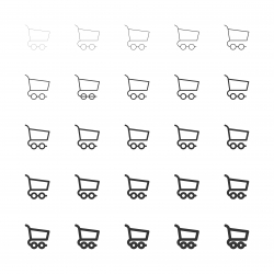 Shopping Cart Icons - Multi Line Series