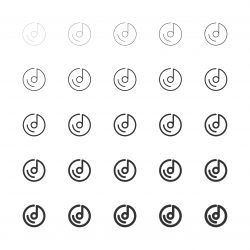 Musical Disc Icons - Multi Line Series