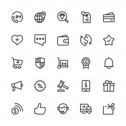 E-Commerce Icons - Line Series