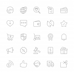 E-Commerce Icons - Ultra Thin Line Series