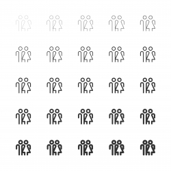 Human Sign Icons - Multi Line Series