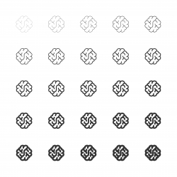 Brain Icons - Multi Line Series