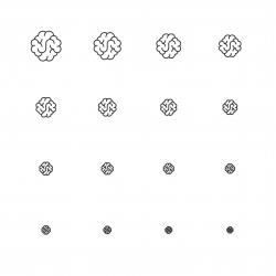 Brain Icons - Multi Scale Line Series
