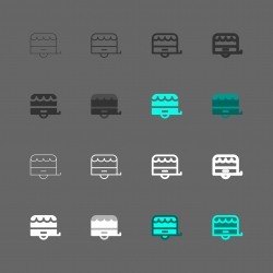 Food Truck Trailer Icons - Multi Series