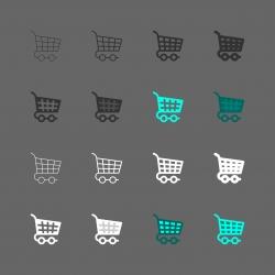 Shopping Cart Icons - Multi Series