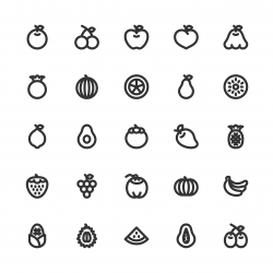 Fruit Icon - Bold Line Series