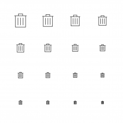 Garbage Can Icons - Multi Scale Line Series