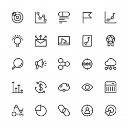 Search Engine Optimization Icons - Line Series