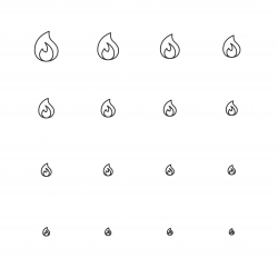 Flame Icons - Multi Scale Line Series