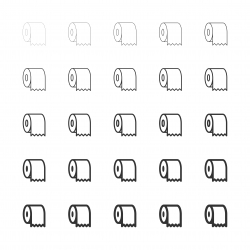 Toilet Paper Icons - Multi Line Series