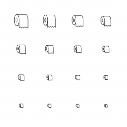 Toilet Paper Icons - Multi Scale Line Series