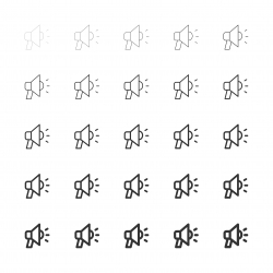 Megaphone Icons - Multi Line Series