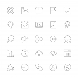 Search Engine Optimization Icons - Ultra Thin Line Series