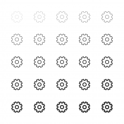 Gear Icons - Multi Line Series