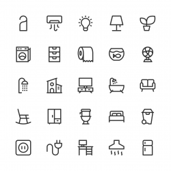 Home and Living Icons - Line Series