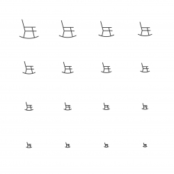 Rocking Chair - Multi Scale Line Series