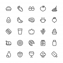Food and Drink Icons Set 2 - Line Series