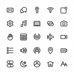 Mobile Device Setting Icons - Bold Line Series