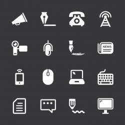Communication Icons - White Series | EPS10