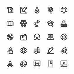 Education Icons - Bold Line Series