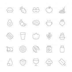 Food and Drink Icons Set 2 - Ultra Thin Series