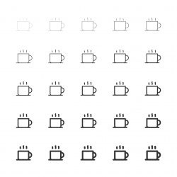 Hot Coffee Icons - Multi Line Series