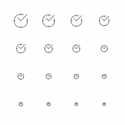 Check Mark Time Icons - Multi Scale Line Series