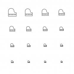 Piano Icons - Multi Scale Line Series
