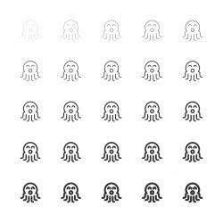 Octopus Icons - Multi Line Serie