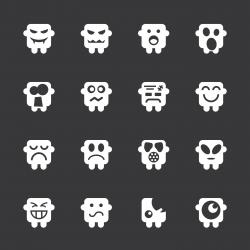 Emoticons Set 6 - White Series | EPS10