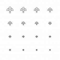 Rocket Icons - Multi Scale Line Series