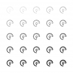 Speed Meter Icons - Multi Line Series