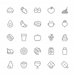 Food and Drink Icons Set 2 - Thin Line Series