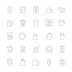 Coffee Icons - Ultra Thin Line Series
