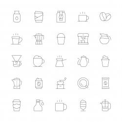 Coffee Icons - Ultra Thin Line Series