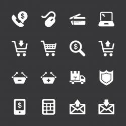 E-commerce Icons - White Series | EPS10
