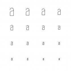 Doorknob Icons - Multi Scale Line Series