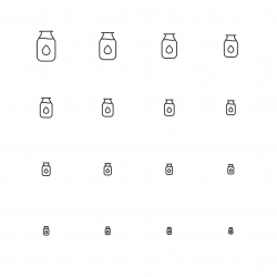Milk Bottle Icons - Multi Scale Line Series