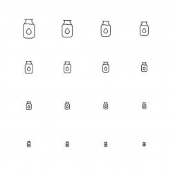 Milk Bottle Icons - Multi Scale Line Series