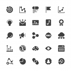 Search Engine Optimization Icons - Gray Series