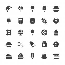 Dessert Icons - Gray