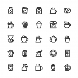 Coffee Icons - Bold Line Series