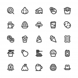 Food and Drink Icons Set 3 - Bold Line Series